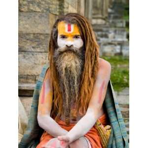 Religious Man at Pashupatinath Holy Hindu Place on Bagmati