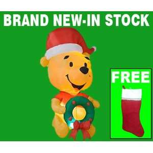 Pooh Outdoor Inflatable Christmas Yard Decoration With Free Stocking