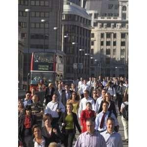 Commuters, London Bridge, City of London, London, England