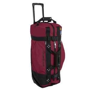 New Club Glove Rolling Duffle Travel Bag Burgundy Sports