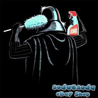 funny evil Power DARTH VADER T SHIRT dark side cleaner STAR WARS fun