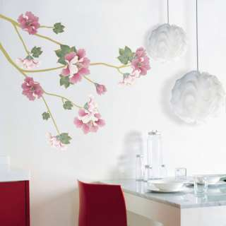FLOWER WALL DECALS REMOVABLE MURAL DECOR STICKERS 328