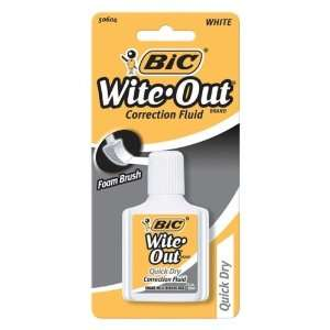WOFQDP1WHI   Wite Out Correction Fluid: Office Products