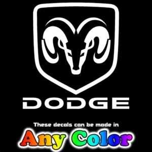 Dodge Ram Shield Head Auto Truck Window Stickers Decals