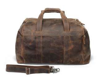 Rustic Large Leather Duffle Bag Overnight Travel Case Luggage Carry On