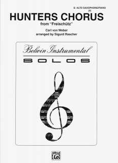 Chorus (Freischutz), for Eb Alto Saxophone/Piano, Carl Maria Von Weber
