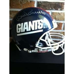 BILL PARCELLS SIGNED GIANTS FULL SIZE HELMET COMES WITH COA