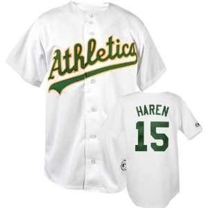 Dan Haren White Majestic MLB Home Replica Oakland Athletics Jersey