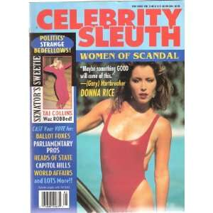 Celebrity Sleuth Magazine volume 8, number 8  Women of