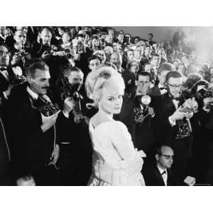Elke Sommer Attending the Cannes Film Festival Amid a Sea of