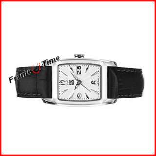 ESQ Quest Tonneau Men Leather Date Dress Watch 07300949