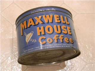 ORIGINAL WW 1 US ARMY FOOTLOCKER ITEM MAXWELL HOUSE COFFEE TIN