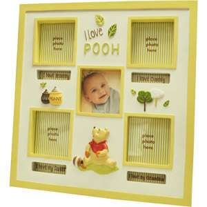 Winnie the Pooh I love Pooh Photo Frame, Unisex Gifts for Baby