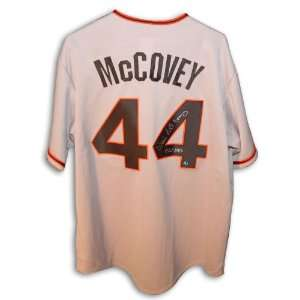 Willie McCovey San Francisco Giants Autographed Grey Jersey with 521