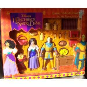 DISNEY THE HUNCHBACK OF NOTRE DAME ESMERALDA & PHOEBUS ACTION FIGURE