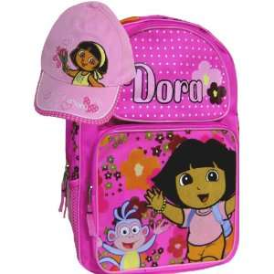 New Dora and Boots Girls Pink Backpack Matching Cap Toys & Games