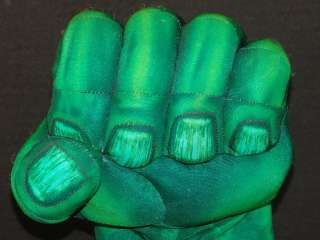 HULK MARVEL COMICS HASBROUCK SMASH HANDS GREEN GLOVE PLUSH TOY