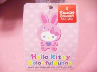 Sanrio Hello Kitty Colorful Bunny Flower Design Plush / Japan Game Toy
