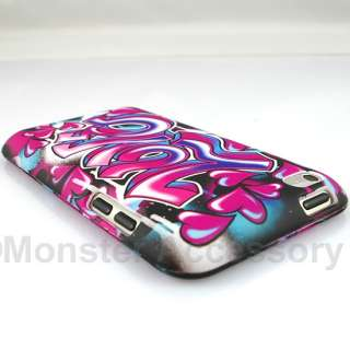 Love Hearts Hard Case Cover iPod Touch 4 Accessory
