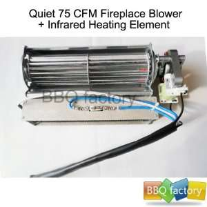 Replacement Fireplace Fan Blower + Heating Element for