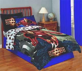 NEW 4pc IRON MAN Twin Bed Marvel Comforter+BEDDING SET
