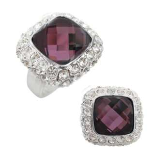12mm Cushion Cut Crystals Cocktail Ring Size 6 7 8 9 10 ~ Available in