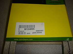 JOHN DEERE MOWER DECK BELT M124895 SCOTTS SABRE 42