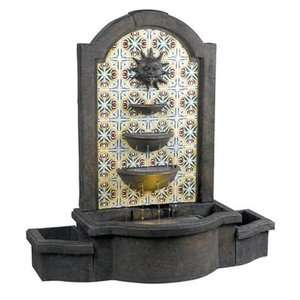 Kenroy Home Cascada Resin Floor Fountain Garden Center