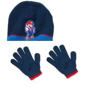 Super Mario Winter Hat & Gloves Toys & Games