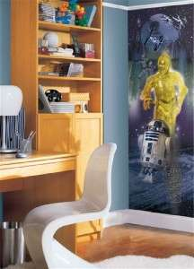 Star Wars Wall Panel R2D2 and C3P0 Decal Stickers Mural