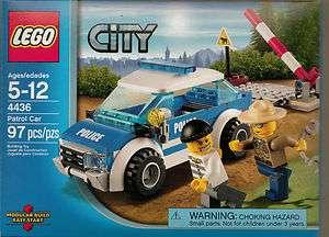 LEGO CITY PATROL CAR SET # 4436 FREE DOMESTIC SHIPPING 97 PCS POLICE