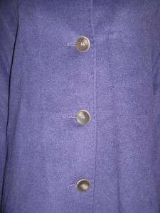 York womens winter Angora Wool blend coat purple jacket plus 24W 2X3X