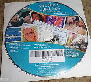 Art Explosion Greeting Card Factory Photo Card Maker ~ For HP Printers