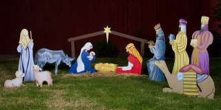 Nativity Set Christmas Lawn Display (*Without 3 Kings)