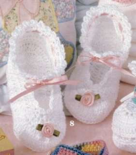 BABY BOOTIES THREAD CROCHET PATTERNS PATTERN MARY JANES By The Dozen