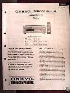 ONKYO DR 90 DVD RECEIVER SERVICE MANUAL (PAPER)