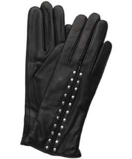 MICHAEL Michael Kors black leather Astor studded gloves   up