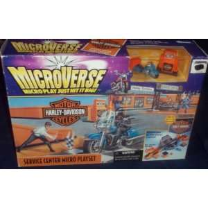 MicroVerse Harley Davidson Service Center Micro Playset: Toys & Games