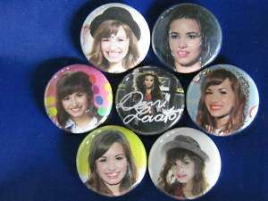 DEMI LOVATO MITCHIE TORRES 7 New Pinbacks Buttons Badge