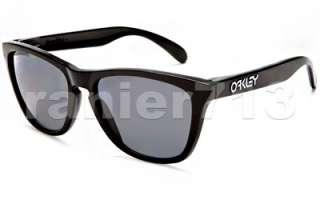 NEW Oakley Frogskins POLARIZED Sunglasses Polished Black/Grey