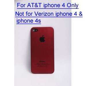 High Quality Red Aluminum Back Cover Battery Replacement