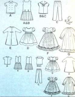 19 girl doll Sewing Pattern Dropwaist Sailor Dress Gown Coat Nitie