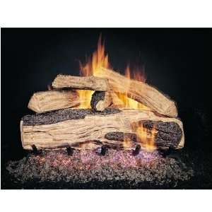 Peterson Gas Logs 30 Inch Ripped Split Oak Vented Propane Gas