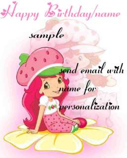 STRAWBERRY SHORTCAKE EDIBLE CAKE TOPPER clik2c all