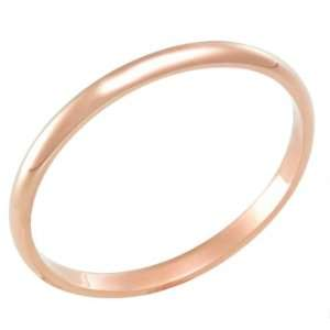 2.5 Millimeters Rose Gold Heavy Wedding Band Ring 14Kt Gold