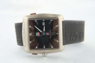 Tag Heuer Golf Sports Tiger Woods Rubber WAE1110 0