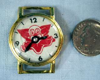 Bozo The Clown ~ Tin & Celluloid Toy Watch 1950s Japan