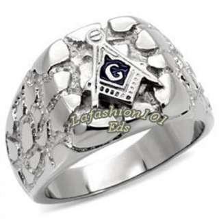 316L Stainless Steel Designer Masonic Mason Mens Ring SIZE 9 13