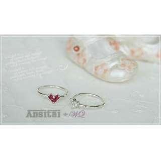 Romantic Silver Plated Flexible Crystal Diamond Heart Shape Ring Gift